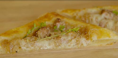 Onion and Sausage Tart